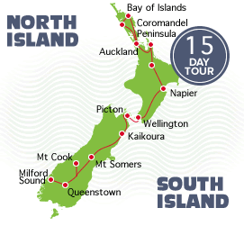 15 Day Auckland to Queenstown Tour