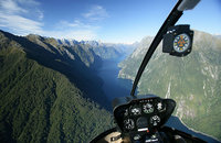 Helicopter Flight over Milford Sound