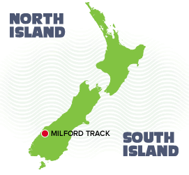 Milford Track Tour Map